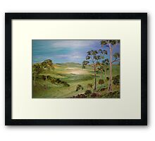 Rocky Hills Framed Print