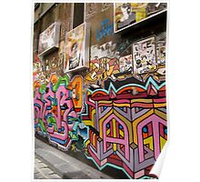 Hosier Lane graffiti Poster