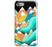 Waves of the mountains iPhone Case/Skin