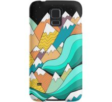 Waves of the mountains Samsung Galaxy Case/Skin