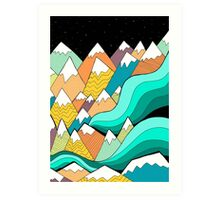 Waves of the mountains Art Print