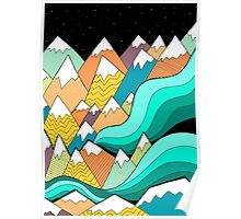 Waves of the mountains Poster