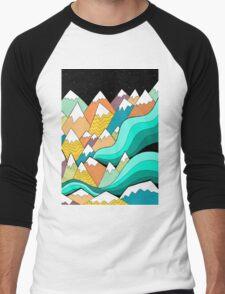 Waves of the mountains Men's Baseball ¾ T-Shirt