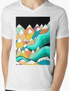Waves of the mountains Mens V-Neck T-Shirt
