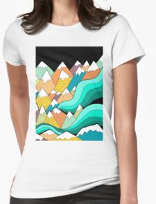 Waves of the mountains Womens Fitted T-Shirt