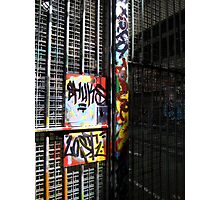 The graffitied gates Photographic Print