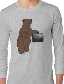 Business Bear Long Sleeve T-Shirt