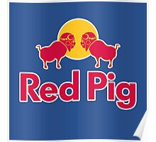Red Pig Poster