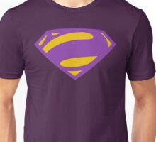 Man Of Steel Bizarro Purple Logo Unisex T-Shirt