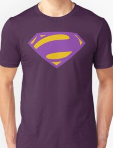 Man Of Steel Bizarro Purple Logo T-Shirt