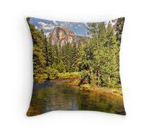 The Merced River  Throw Pillow