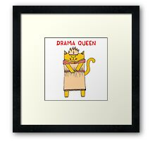 The drama queen Framed Print