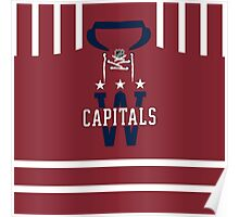Washington Capitals 2015 Winter Classic Jersey Poster