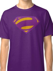 Man Of Steel Bizarro Purple Textured Logo Classic T-Shirt
