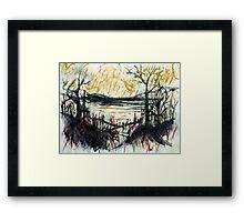 rhine views... rainy day blues Framed Print