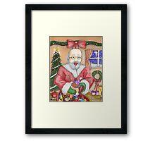 Santa Delivers Framed Print