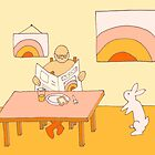 Apricot Breakfast - from my original series, Apricot World by Jenny Hoople