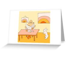 Apricot Breakfast - from my original series, Apricot World Greeting Card