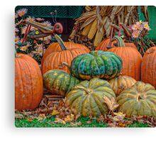 Pumpkin Stand Canvas Print