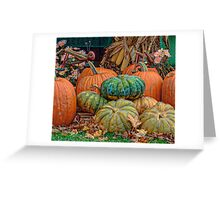 Pumpkin Stand Greeting Card