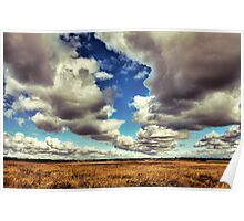Cloud Formation over the Plain Poster