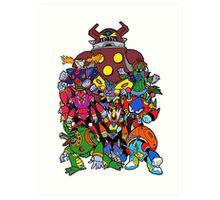 Mega Man X 2 Bosses Art Print