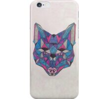 Triangle block wolf iPhone Case/Skin