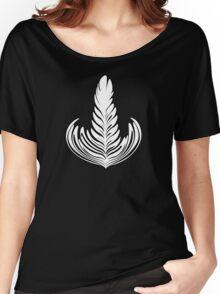 Black outlined Rosetta Women's Relaxed Fit T-Shirt