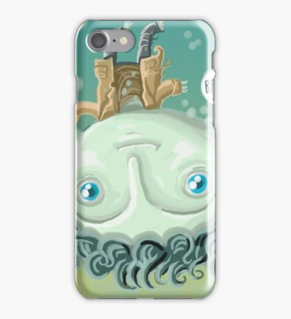 cute zombie in the water iPhone Case/Skin