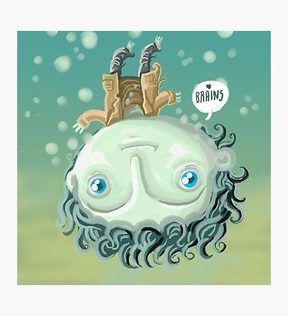 cute zombie in the water Photographic Print