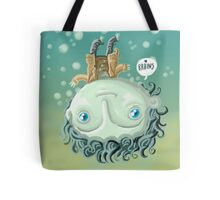 cute zombie in the water Tote Bag