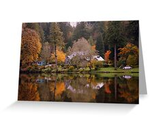 Fall on the McKenzie River Greeting Card