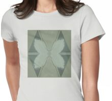 Flowers, checker Womens Fitted T-Shirt
