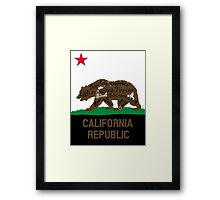 CA California Republic Bear Flag Framed Print