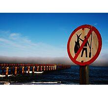 Warning sign stormfront, Namibia Photographic Print