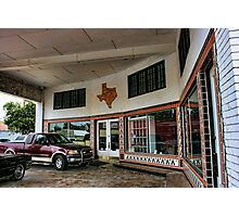Grimes Garage in Hillsboro, Texas Photographic Print
