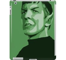 First Officer Spock stylized in green Star Trek tos iPad Case/Skin