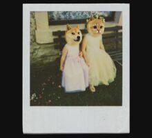 Polaroid doge and cat meme Kids Tee