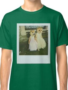 Polaroid doge and cat meme Classic T-Shirt