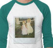 Polaroid doge and cat meme Men's Baseball ¾ T-Shirt