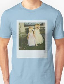Polaroid doge and cat meme Unisex T-Shirt