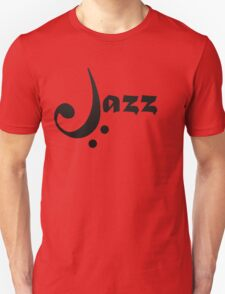 Bass Clef Jazz Design Unisex T-Shirt
