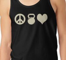 Peace Weight Love Workout Gym Exercise Tank Top