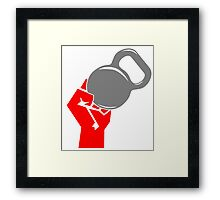 Kettlebell Fist Workout Gym Exercise Framed Print