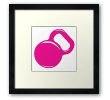 Kettlebell Workout Gym Exercise Framed Print