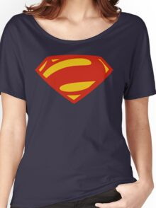 Man Of Steel Bizarro Red Logo Women's Relaxed Fit T-Shirt