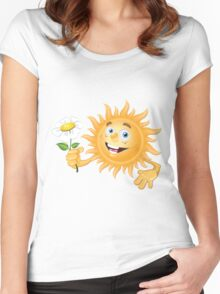 Funny sun Women's Fitted Scoop T-Shirt