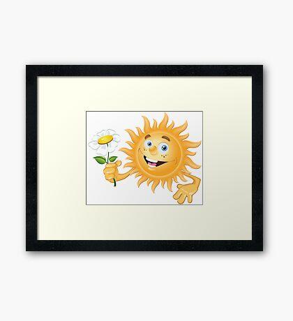 Funny sun Framed Print