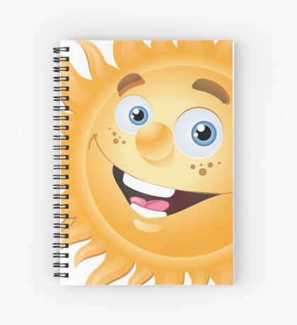 Funny sun Spiral Notebook