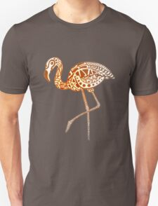 Tribal Flamingo - Mocha Unisex T-Shirt